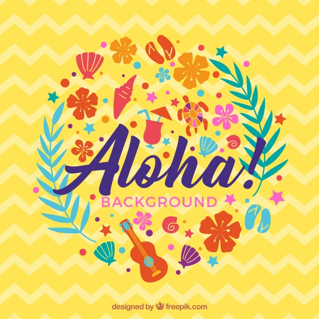 Abstrait aloha background