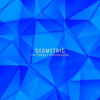 Abstrait arrière-plan polygonal géométrique bleu