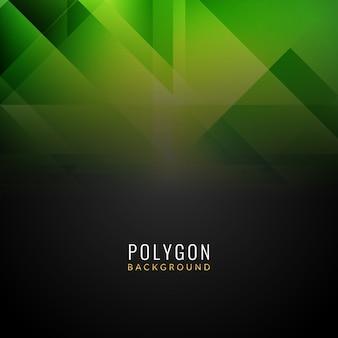 Abstrait arrière-plan polygonale en vert