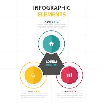 Abstrait cercle coloré modèle infographique d'affaires