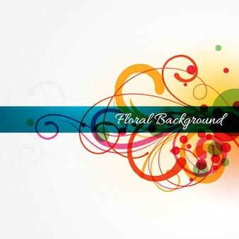 abstrait coloré fond floral