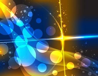 abstrait coloré vecteur bokeh