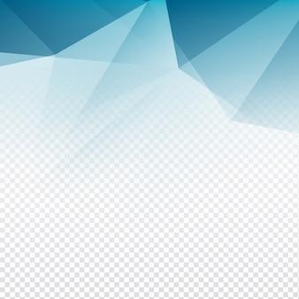Abstrait et élégant fond polygone transparent