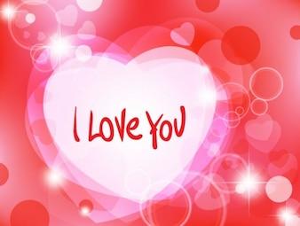 abstrait romantique avec des coeurs