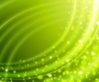 abstrait sur fond vert vecteur bokeh