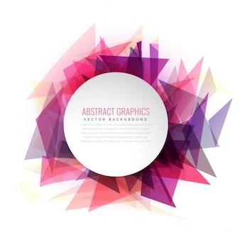 Abstrait triangle façonne cadre coloré avec un espace pour votre texte