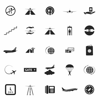 Aéroport icon set