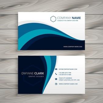 affaires avec style template vague bleue