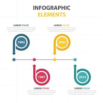 Affaires cercle abstrait coloré modèle infographique C