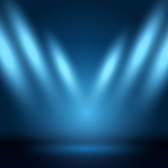 Affichage de fond avec des spots lumineux vers le bas
