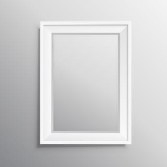 Affichage de modélisation de cadre photo réel