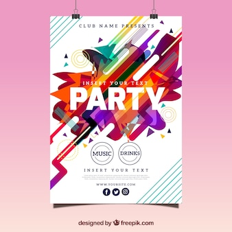 Affiche abstraite de fête avec style amusant