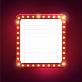 Affiche avec lumière sur fond rouge rose