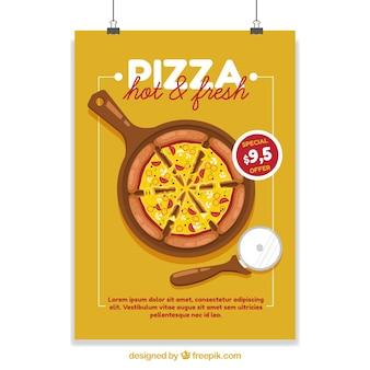 Affiche avec réductions de pizza