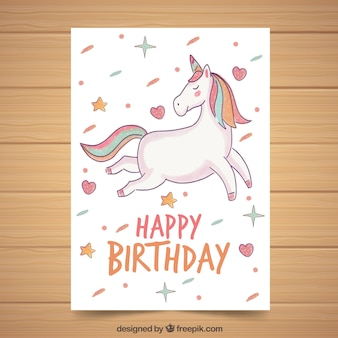 Affiche créative de licorne