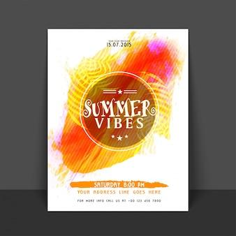 Affiche d'aquarelle de vibes d'été