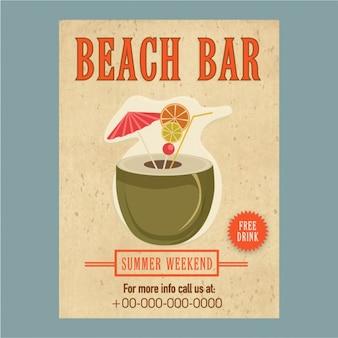 Affiche d'été de fête avec cocktail