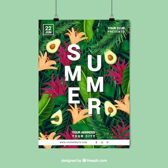 Affiche d'été florale