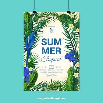 Affiche d'été tropical