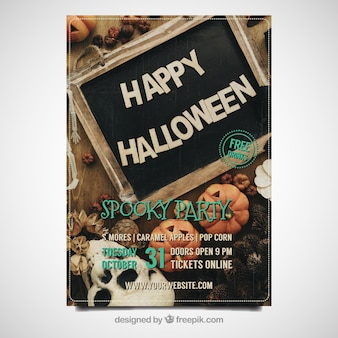 Affiche de célébration d'Halloween