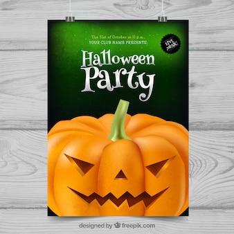 Affiche de fête de Halloween avec citrouille