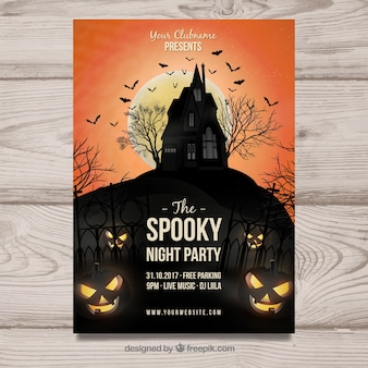 Affiche de fête de halloween effrayant