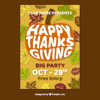 Affiche de fête de Thanksgiving