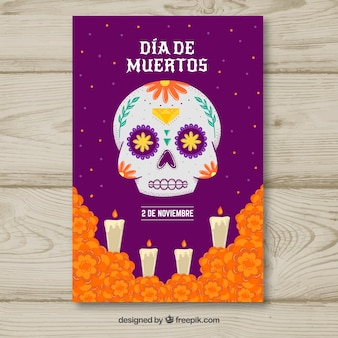 Affiche de la fête du jour des morts