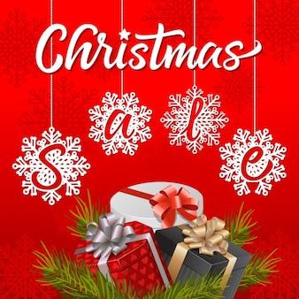 Fond affiche vecteurs et photos gratuites - Vente de cadeaux de noel ...