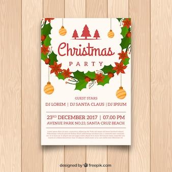 Affiche de Noël à la décoration classique