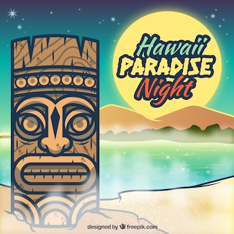 Affiche de paradis Hawaï