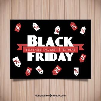 Affiche de vendredi noir avec des étiquettes