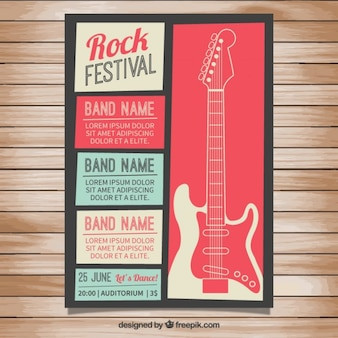 Affiche du festival Rock