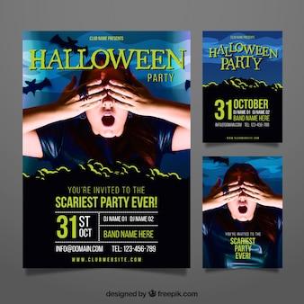 Affiche effrayante de fête d'halloween