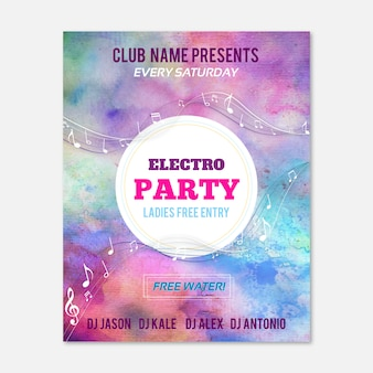 Affiche Electro Party
