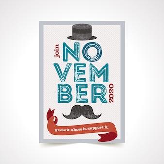 Affiche élégante de Movember