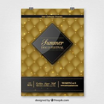 Affiche luxueuse de l'été