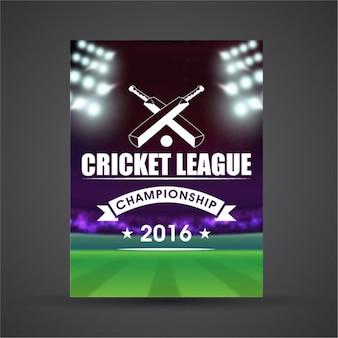 Affiche réaliste avec stade de cricket