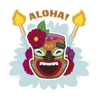 Aloha mask background