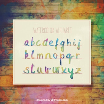 alphabet Aquarelle