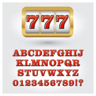 Alphabet de style machines à sous