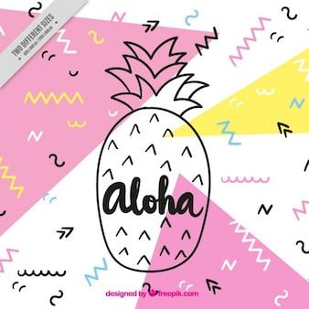 Ananas aloha fond