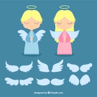 Anges et différentes ailes