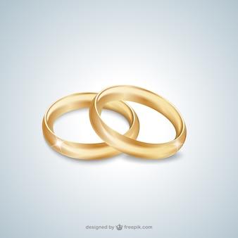 Anneaux de mariage en or