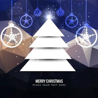Appartement arbre de Noël sur fond polygonale