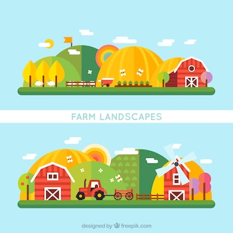 Appartement paysage agricole
