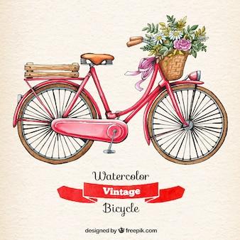 Aquarelle bicyclette vintage