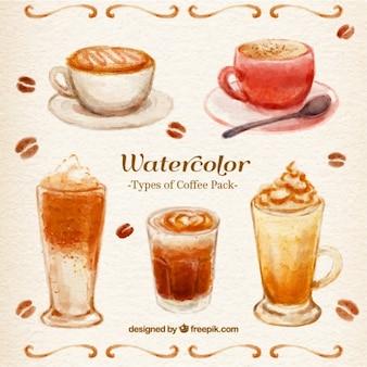 Aquarelle café Paquet