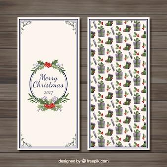 Aquarelle de Noël Bannière pack