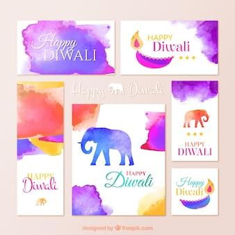 Aquarelle Diwali papeterie